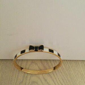 NWOT Kate Spade Black & White Take a Bow Bracelet
